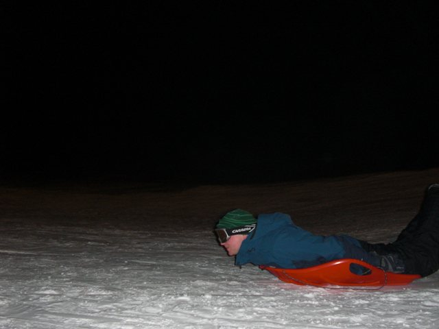 Evening sledging - even for adults!