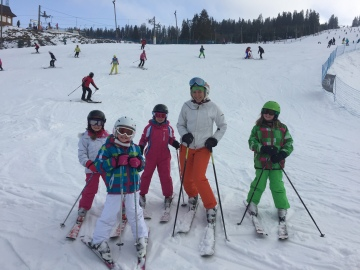 Ski instructor Ewelina taking a lesson at half term in Zakopane with White Side Holidays Poland