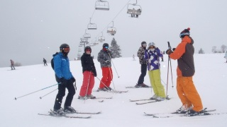 White Side Holidays Poland ski instructor Tom taking his ski lesson at Witow ski area