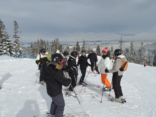 White Side Holidays Poland Ski Instructor Dan teaching the teachers group at February Half Term 2013