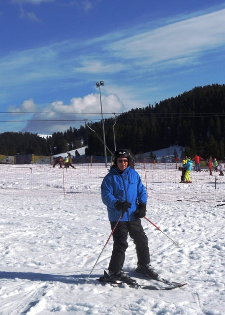 Never too old to learn to ski! Dave here is 73 and enjoying his first time on the slopes in Zakopane with White Side Holidays Poland