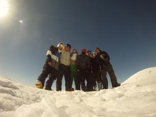 Stag doo skiing in Zakopane, Poland