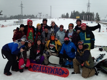 Christmas Day 2014 snowboarding in Bialka. Christmas ski holidays are great fun!