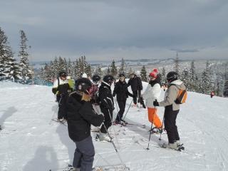 White Side Holidays Poland Ski Instructor Dan teaching the teachers group at February Half Term 2013