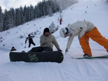 Gaz and Pedro (All the way from Rio in Brazil) on a day trip to Jasna, Slovakia in 2011
