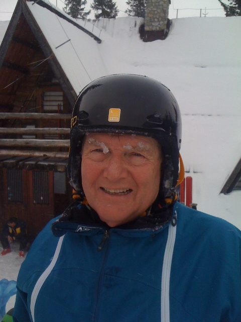Chilly conditions up on Kasprowy today, David here skiing at 72 years old feeling the cold on his eyebrows!! 5/2/13
