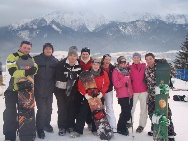 Enjoying time on the slopes, skiing and snowboarding in Zakopane, Poland with White Side Holidays Poland