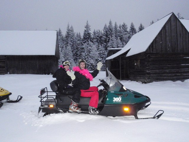 Enjoying a ski doo trip from Witow ski area with White Side Holidays Poland in Zakopane