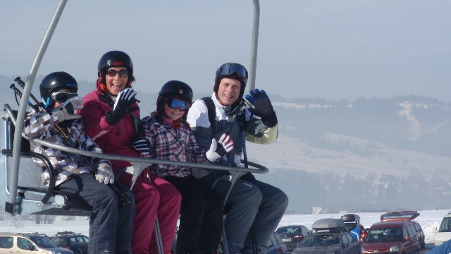 A family ski holiday in Zakopane, skiing at Czarna Gora with White Side Holidays Poland