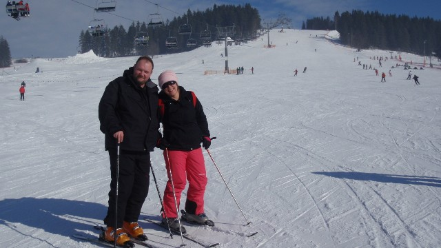 Enjoying a few runs whilst our instructors look after the kids