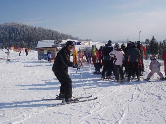 Our oldest beginner skier to date, Bill at 73 - last on the slopes everyday! Well done Bill!
