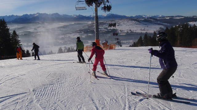 A beautiful day skiing with guests on New Years Eve 2012!