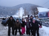 The Nash party at the World Cup Ski Jump in Zakopane, Poland