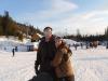 Nat and Jess on the slopes in Zakopane