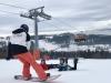 Gaz teaching 2 beginner snowboarders from South Africa at Bialka Tatrzanska
