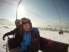 Jordan and Connor enjoying a sunny day on the slopes in Zakopane with White Side Holidays Poland