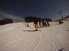 White Side Holidays Poland ski instructor Dan taking a beginner ski lesson at Czarna Gora ski area