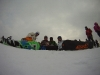 White Side Holidays Poland snowboard instructor Gaz with his advanced snowboard group at Jurgow ski area near Zakopane