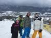 Snowboarding on Szymaszkowa before heading to Snow Fest to party at night in Zakopane, Poland
