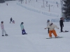 Our snowboard instructor Gaz taking a beginner snowboard lesson at Jurgow ski area