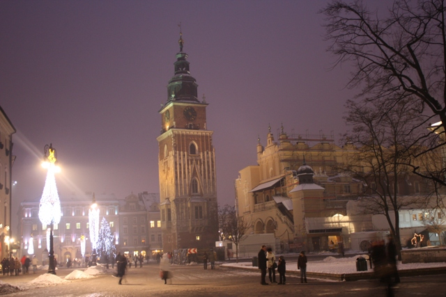 Krakow City Centre by Night