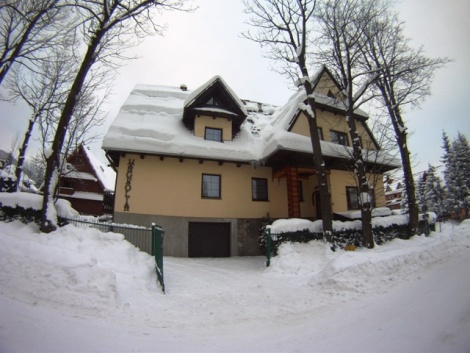 A Snowy Day outside Chalet Magnolia, Zakopane, Poland working with White Side Holidays