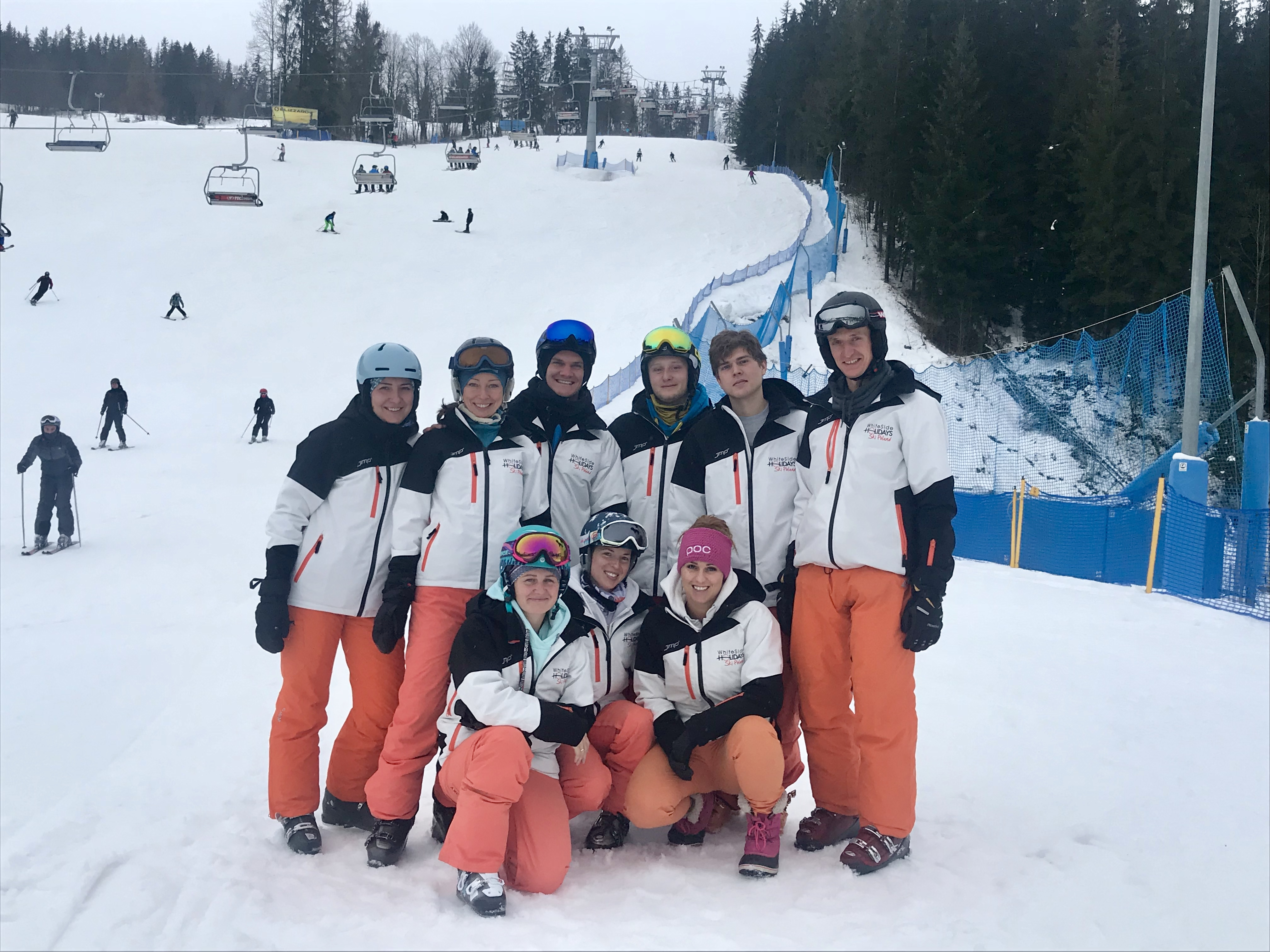 A quick team photo in Zakopane with some of our ski and snowboard instructors before the New Year's Eve celebrations begin