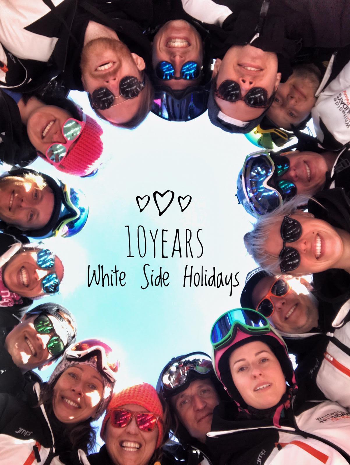 White Side Holidays Poland, Ski and Snowboard Instructors celebrating 10 years in Zakopane