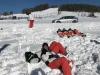 The guys chilling in the sun in Zakopane, a perfect ski and snowboard instructors lunch break!