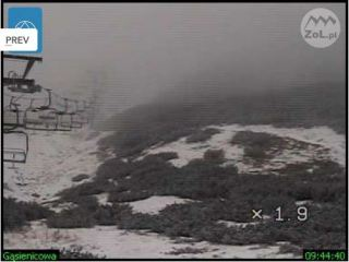 First snow of winter 2011/12 in the Tatra Mountains, Zakopane