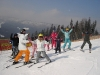 Dan Instructing a group of skiers with White Side Holidays Poland in Zakopane during February half term 2011