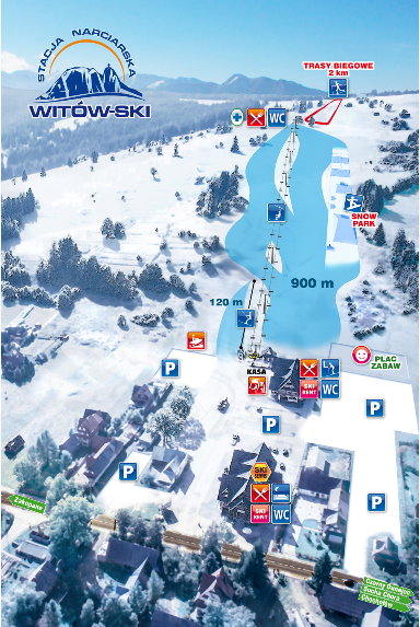 Witow Piste Map - Come and ski here with White Side Holidays Poland