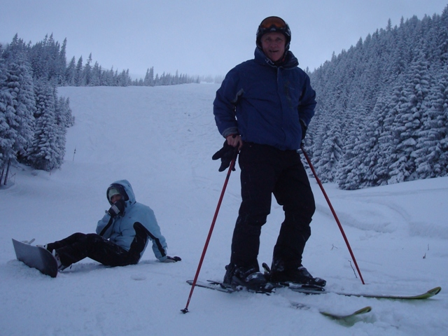 Emma and Sydney at Kasprowy Wierch ski area with White Side Holidays