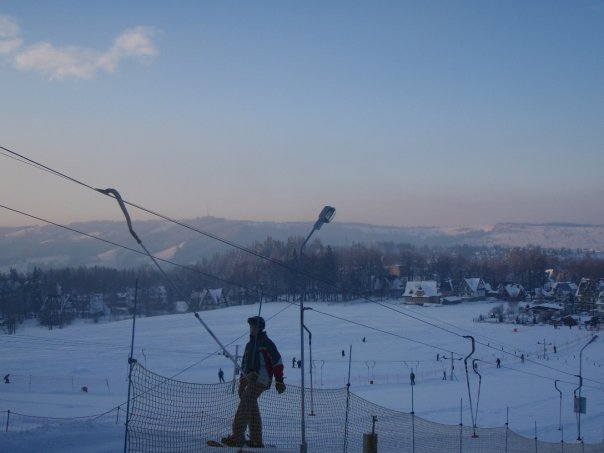 Learning to snowboard at Nosal Ski Area