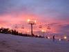 Night Skiing at Bialka Ski Area, Poland