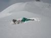 Gaz laid in deep snow at Kasprowy Wierch, Zakopane, Poland