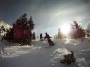 Dan and Tom skiing on Kasprowy Wierch on a bluebird day in Zakopane