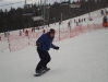 Learning to snowboard at Bialka Ski Area