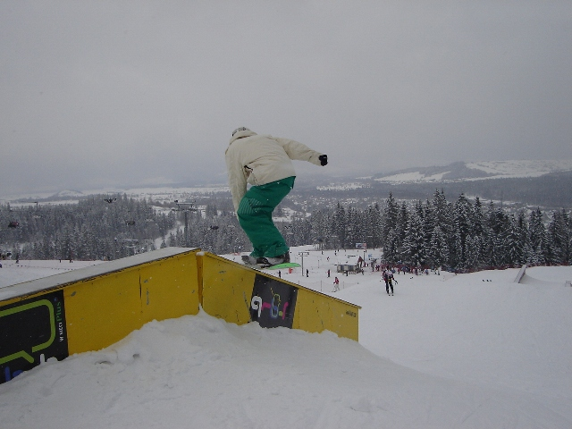 Gaz at the Burton Snow Park at Bialka Ski Area, Zakopane, Poland