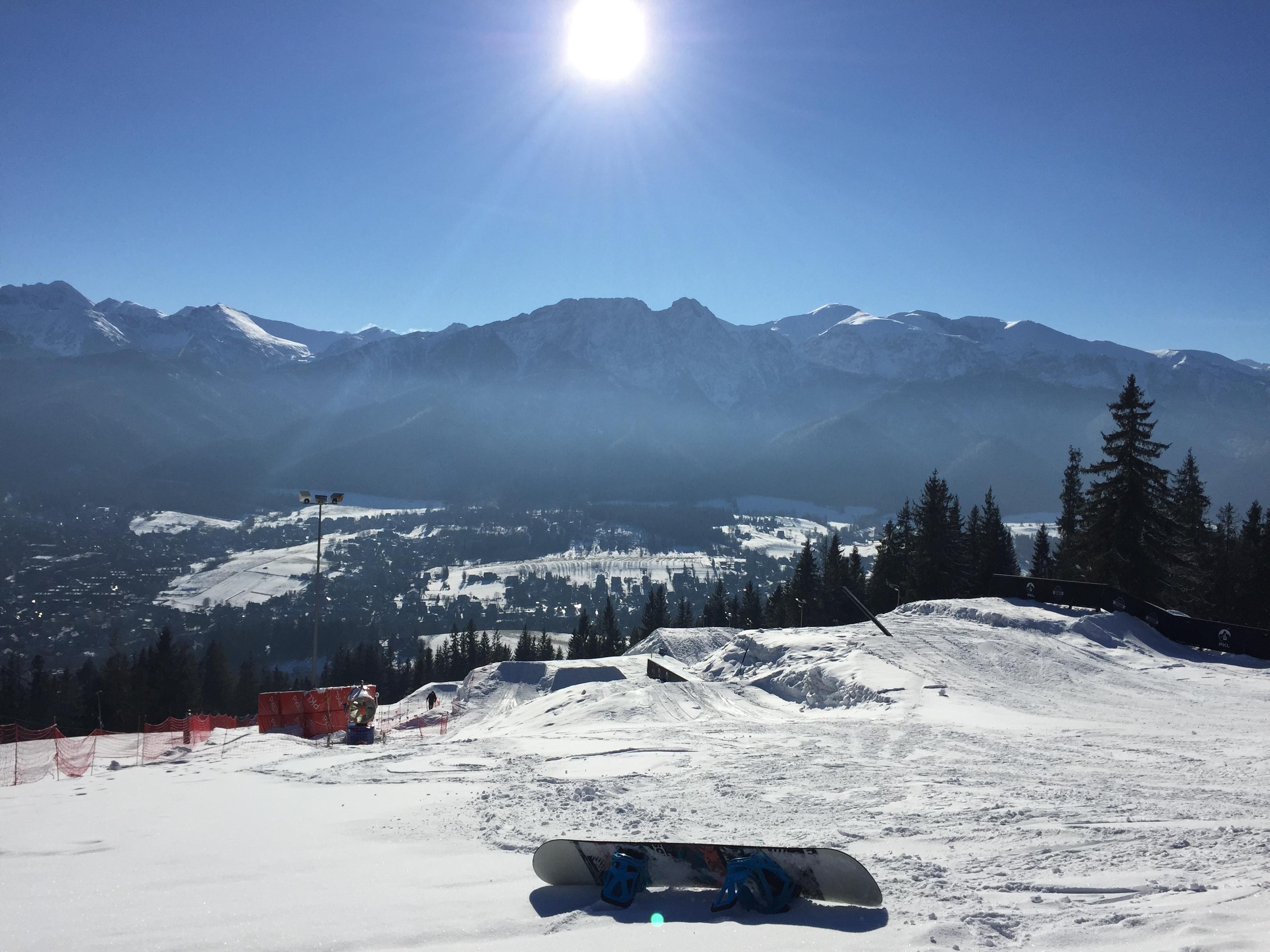 Goobaya Snowpark in Zakopane, Poland on top of Gubalowka