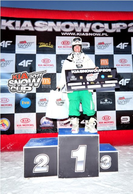Gaz won the Kia Snow Cup Rail Jam on 29/1/11 in Witow
