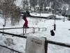 Jack Labbett hitting a street rail in Zakopane, Poland