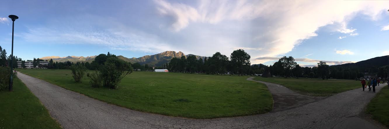 Panoramic View of Zakopane Centre and Giewont from Rownia Krupowa (The Park)