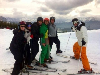1st February 2014, skiing with holiday guests in Zakopane, Poland