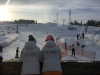 Ewa and Monika looking out over Bialka at the end of the days skiing