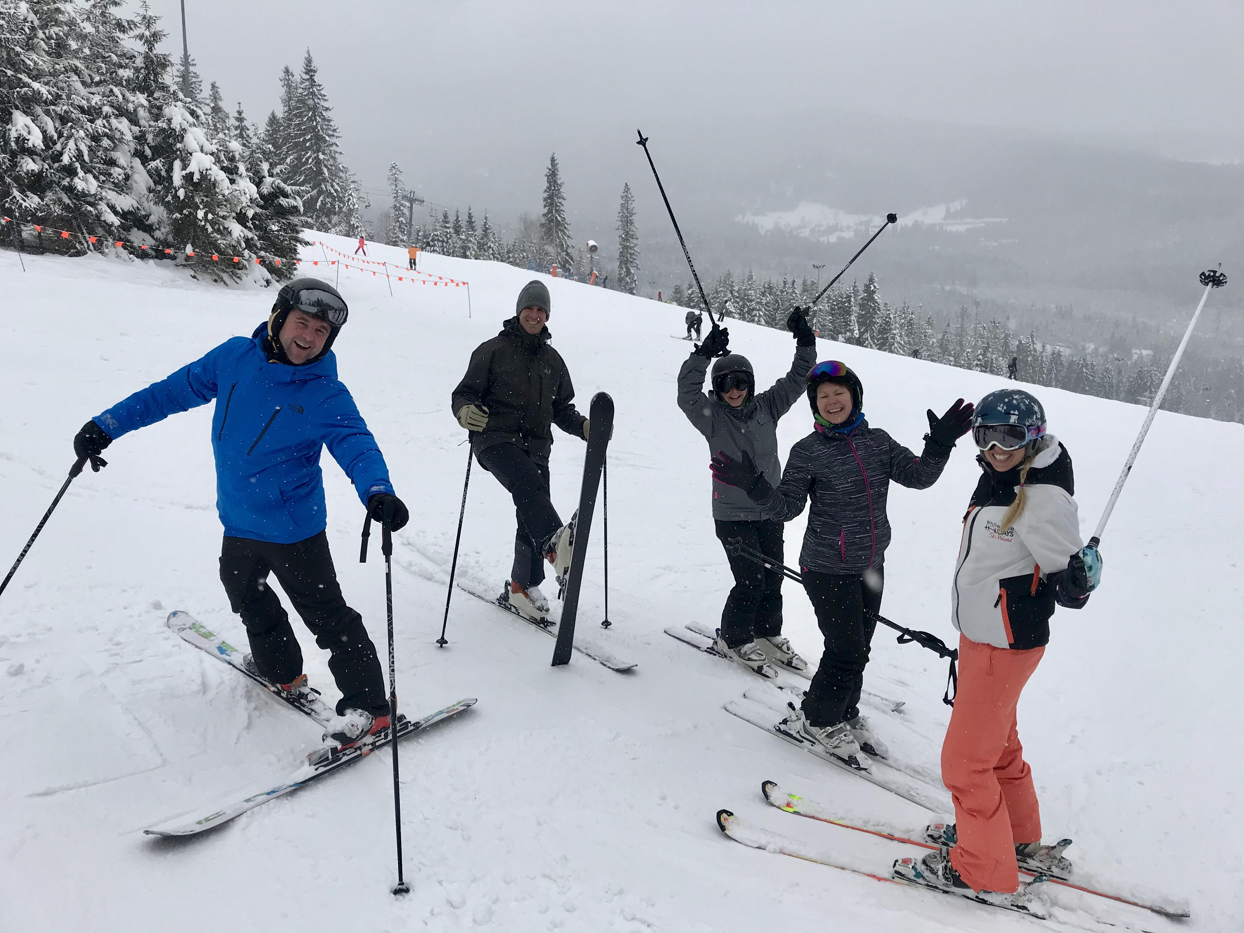 Ski Instructor, Little Ewa and her group at half term 2018