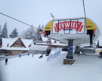 Winter in full swing at Szymoszkowa, Zakopane on 29th December 2014. Great weather for New Year ski holidays!