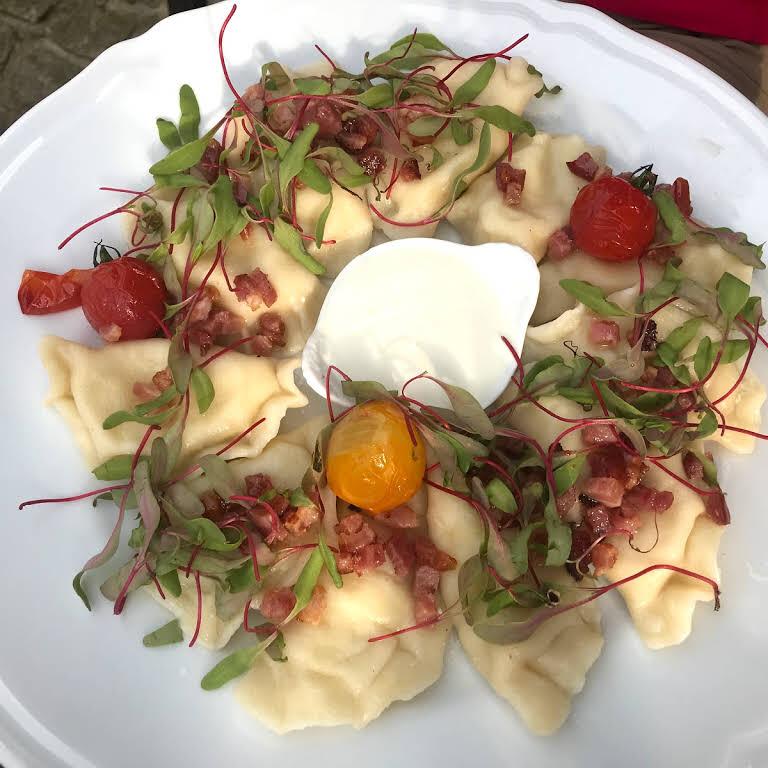 Pierogi in Javorina Restaurant, Zakopane