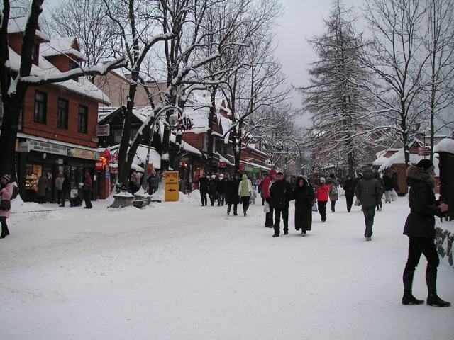 Zakopane town centre, The Krupowki