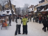 Justin and Paul in Zakopane town centre, The Krupowki